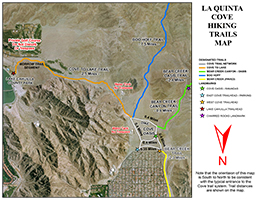 La Quinta Cove Hikes Bear Creek Canyon Oasis Trail - Southern california map la quinta